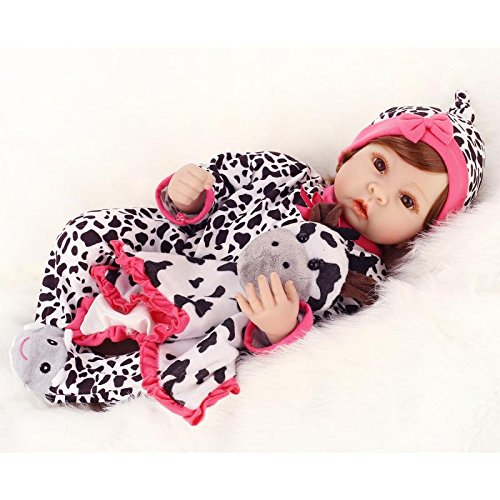 Minidiva Lifelike Baby Alvera with Plush Cow Doll - MiniDiva
