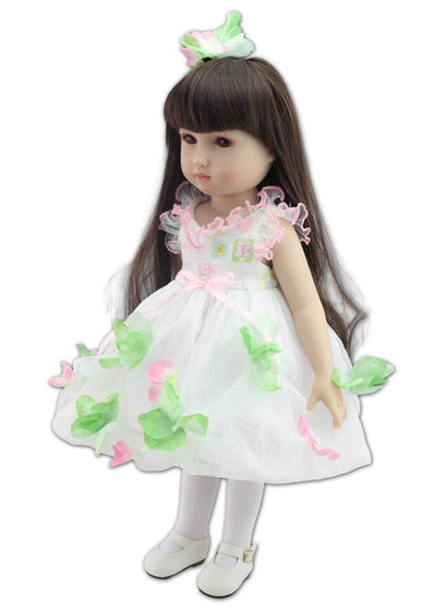 "Minidiva Adorable Gril Doll, 100% Handmade Full Soft Silicone 19"" /45cm Lifelike Newborn Doll for Children-RB155 - MiniDiva"