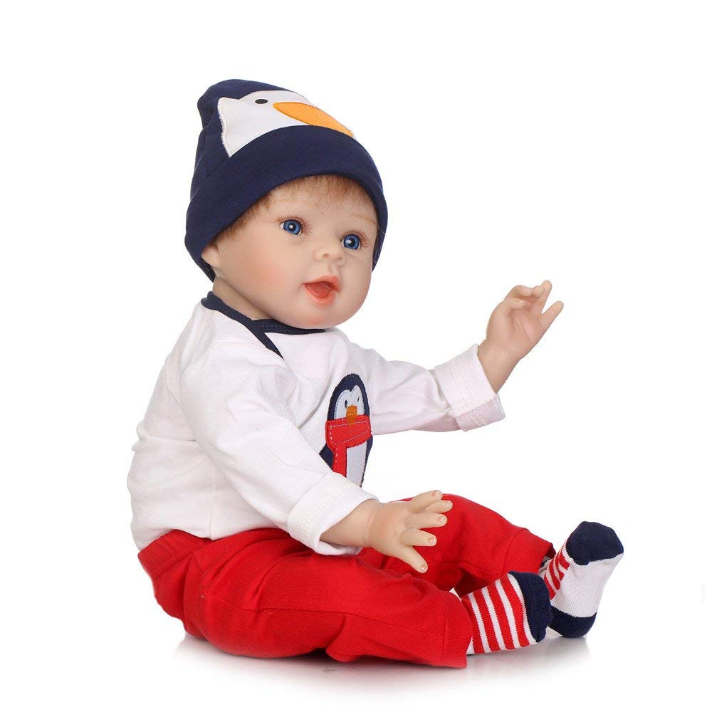 "Minidiva Reborn Baby Doll, 100% Handmade Soft Silicone 22"" /55cm Lifelike Newborn Doll For Children-RB121 - MiniDiva"