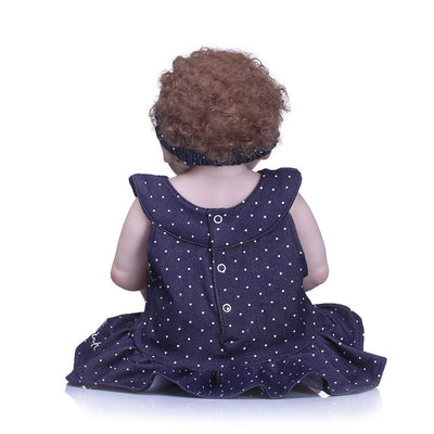 "Minidiva Reborn Baby Doll, 100% Handmade Soft Silicone 22"" /55cm Lifelike Newborn Doll for Children-RB133 - MiniDiva"