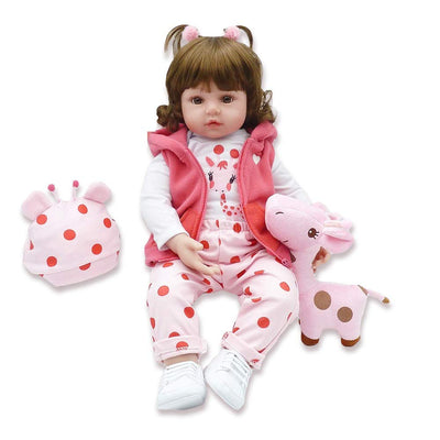 "Minidiva Reborn Baby Doll, 100% Handmade Soft Silicone 19"" /45cm Lifelike Newborn Doll for Children-RB134 - MiniDiva"