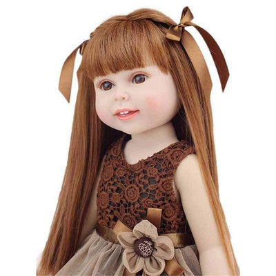 Minidiva Reborn Baby Dolls, 18inch Silicone Handmade Doll Long Hair Princess For Kids - MiniDiva
