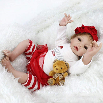 Santa's Little Helpler,  Silicone 55cm Doll Girl  Chrismas Gift For Kids - MiniDiva