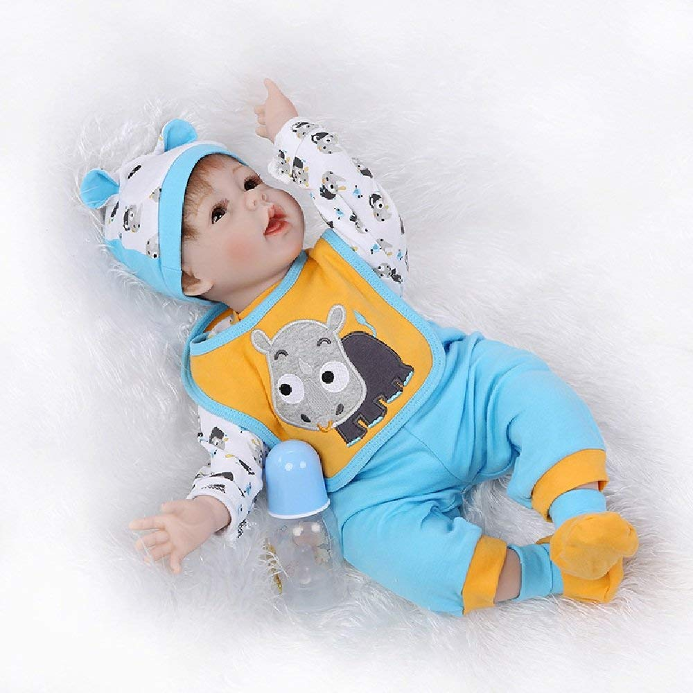 "Minidiva Reborn Baby Doll, 100% Handmade Soft Silicone 22"" /55cm Lifelike Newborn Doll For Children-RB122 - MiniDiva"