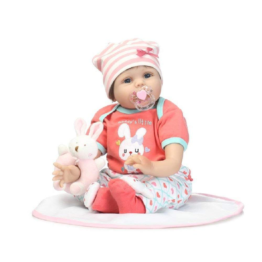 "Minidiva Reborn Baby Doll, 100% Handmade Soft Silicone 22"" /55cm Lifelike Newborn Doll For Children-RB123 - MiniDiva"