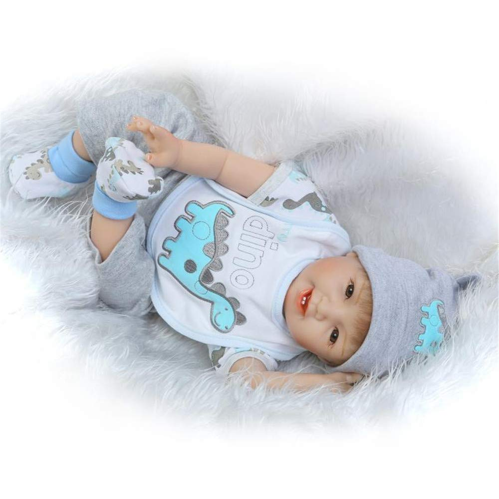 "Minidiva Reborn Baby Doll, 100% Handmade Soft Silicone 22"" /55cm Lifelike Newborn Doll for Children Xmas Gift-RB149 - MiniDiva"