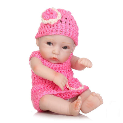 "Minidiva Reborn Baby Doll, 100% Alive Handmade Full Soft Silicone 11"" /27cm Lifelike Newborn Doll Girl for Children-RB135 - MiniDiva"