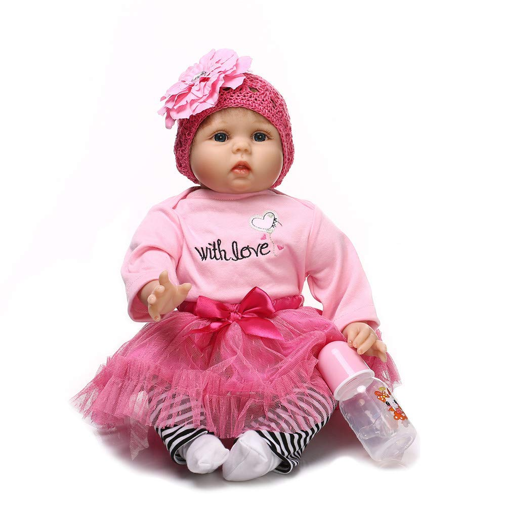"Minidiva Reborn Baby Doll, 100% Handmade Soft Silicone 22"" /55cm Lifelike Newborn Doll for Children Xmas Gift-RB148 - MiniDiva"