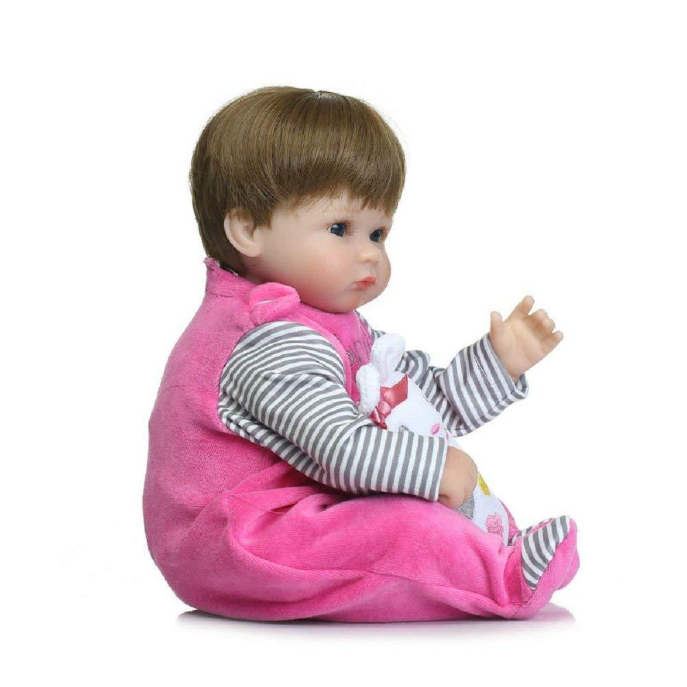 "Reborn Baby Doll,100% Handmade Soft Silicone 15.7"" /40cm Lifelike Newborn Doll Girl For Children - MiniDiva"