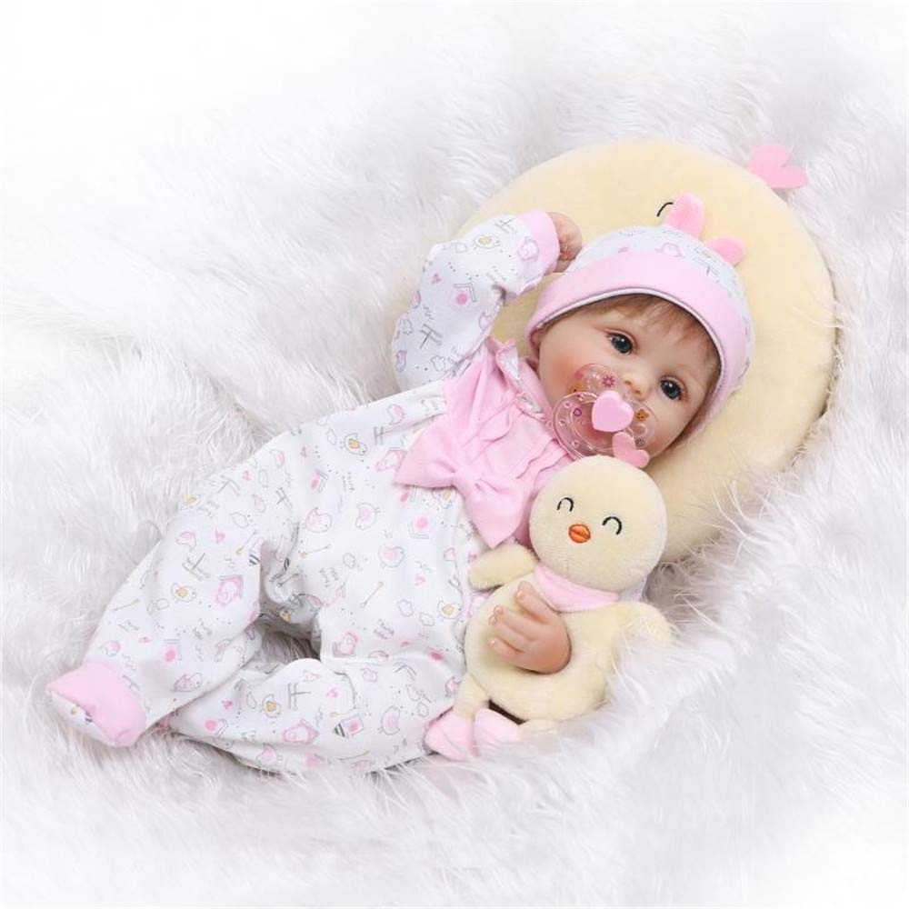 "Minidiva Reborn Baby Doll, 100% Handmade Soft Silicone 22"" /55cm Lifelike Newborn Doll for Children-RB132 - MiniDiva"