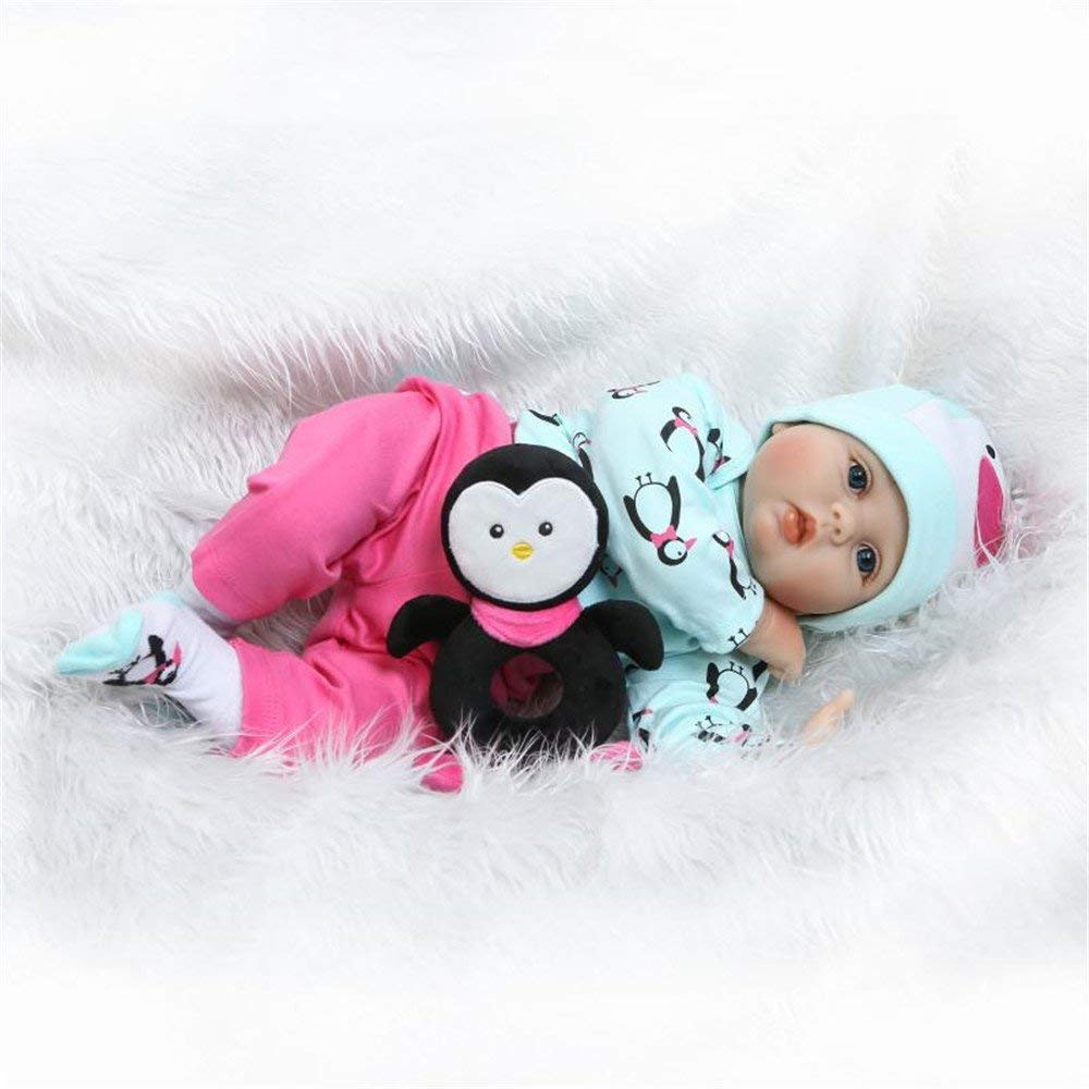 "Minidiva Reborn Baby Doll RB120, 100% Handmade Soft Silicone 22"" /55cm Lifelike Newborn Doll For Children - MiniDiva"