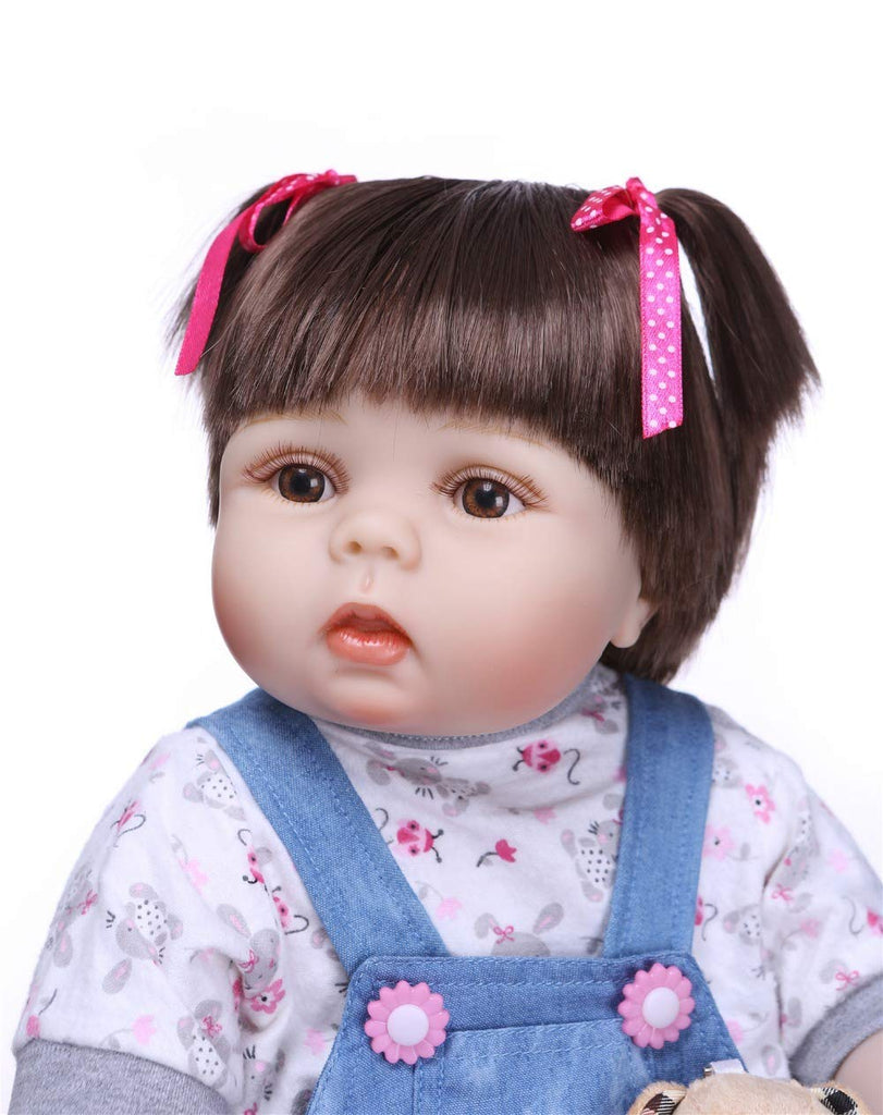 "Minidiva Reborn Baby Doll, 100% Handmade Soft Silicone 22"" /55cm Lifelike Newborn Doll for Children Xmas Gift-RB152 - MiniDiva"
