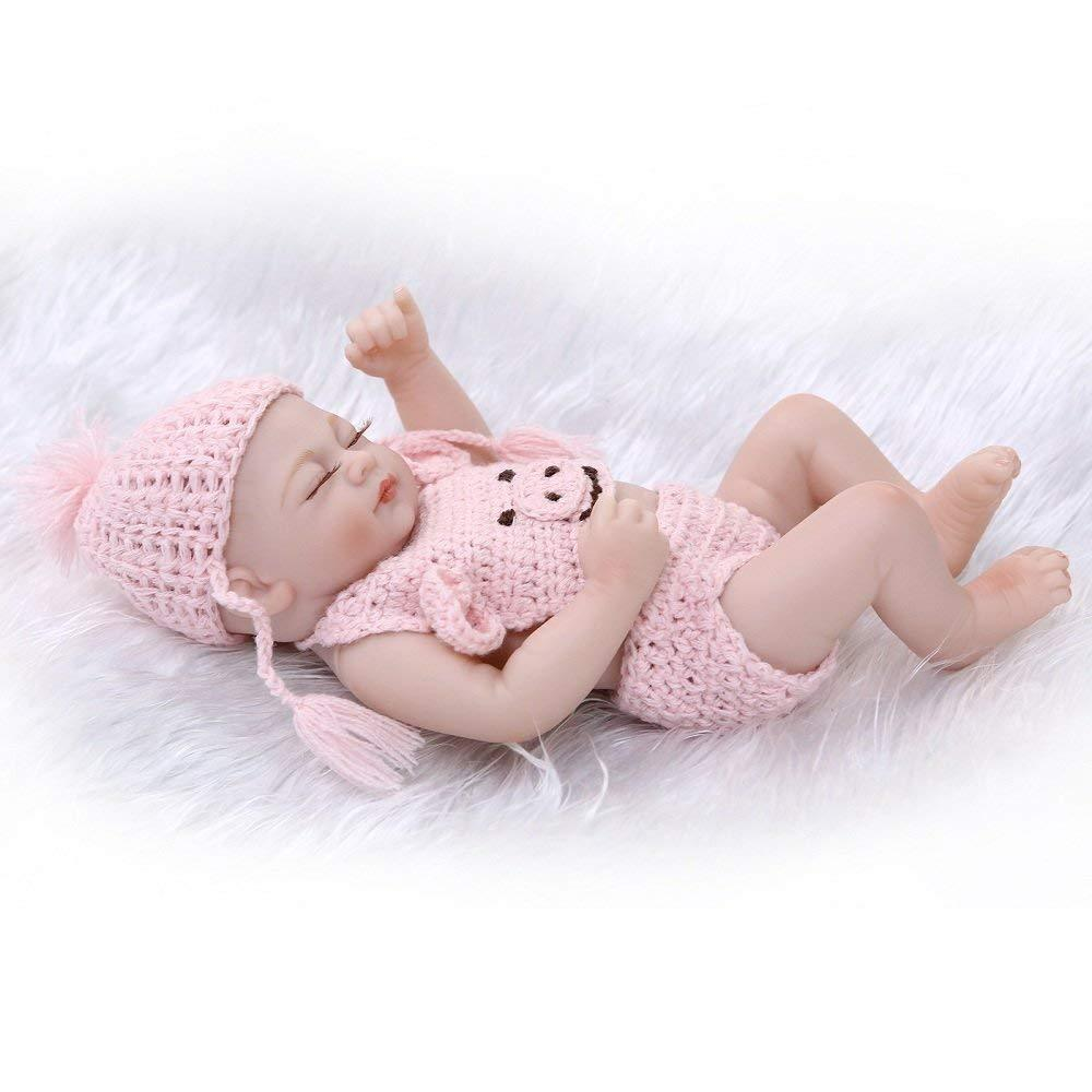 Minidiva Reborn Baby Doll, 100% Handmade Full Silicone 27cm Doll Girl For Kids - MiniDiva