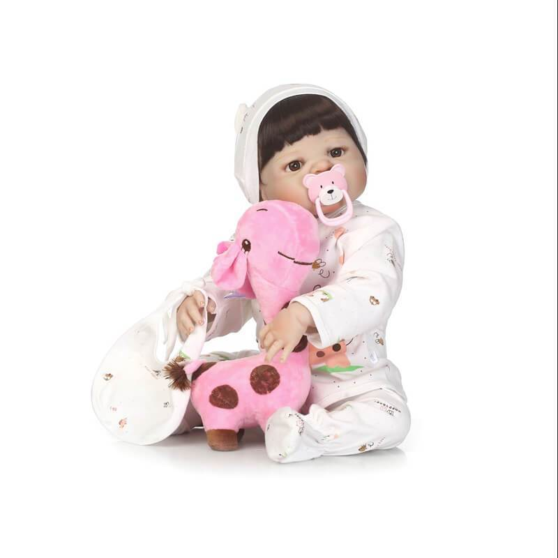 Minidiva Truly Cute Girl Doll In Baby Basket - MiniDiva
