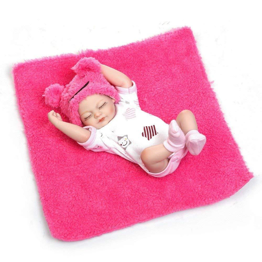 Minidiva Reborn Baby Doll, 100% Handmade Full Silicone 26cm Doll Girl For Kids - MiniDiva