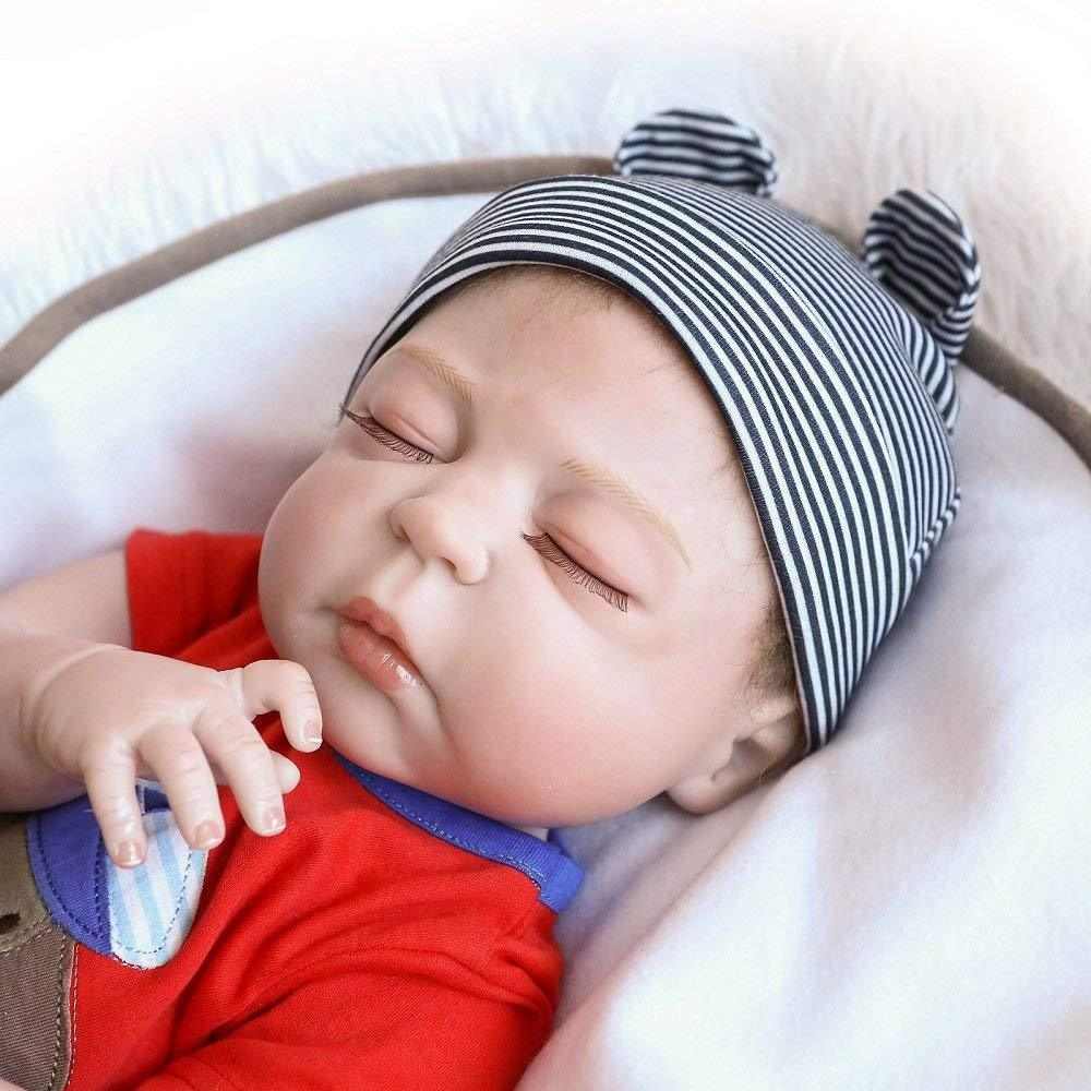 Minidiva Reborn Baby Doll, 100% Handmade Silicone 55cm Doll Boy For Children - MiniDiva