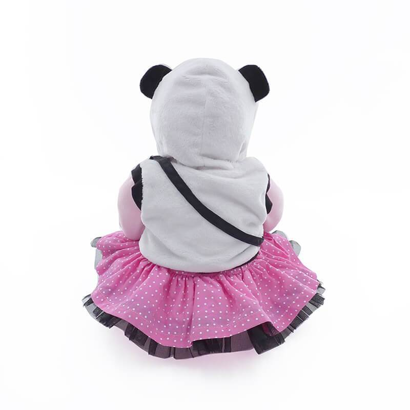 Minidiva Pretty Baby Girl Doll with Panda Bag - MiniDiva