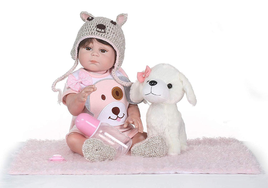 Minidiva Little Baby Girl Eartha with Doll Dog - MiniDiva
