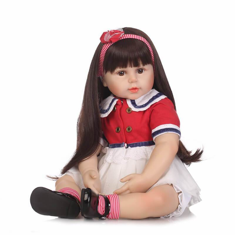 Minidiva Realistic Beautiful Long Hair Girl Doll Lura - MiniDiva