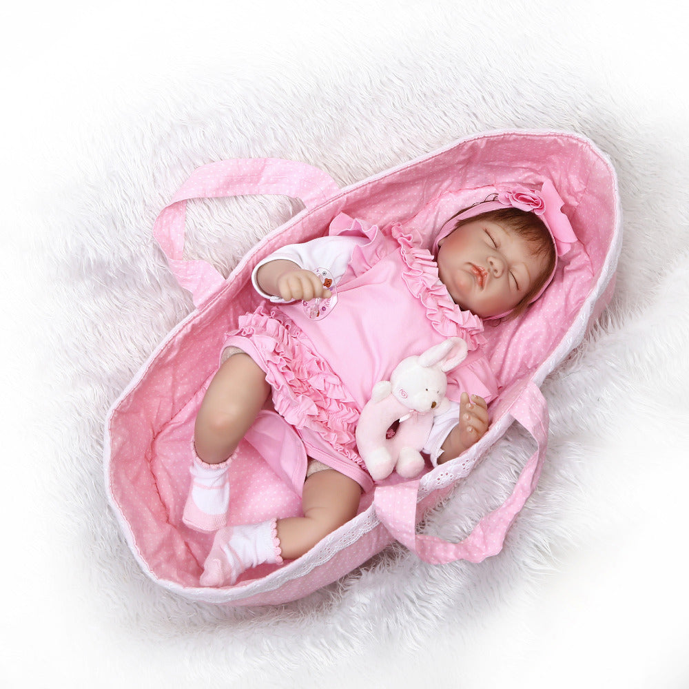 Minidiva New Reborn Sleeping Girl Doll Miki  in Pink Dress - MiniDiva