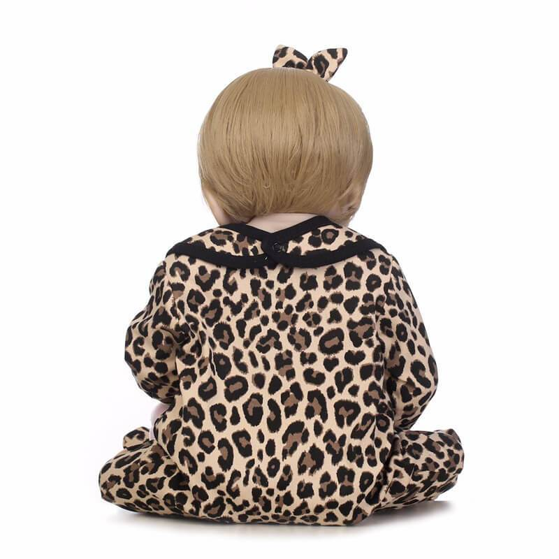 Minidiva Truly Baby Girl Doll Megan in Leopard clothing - MiniDiva