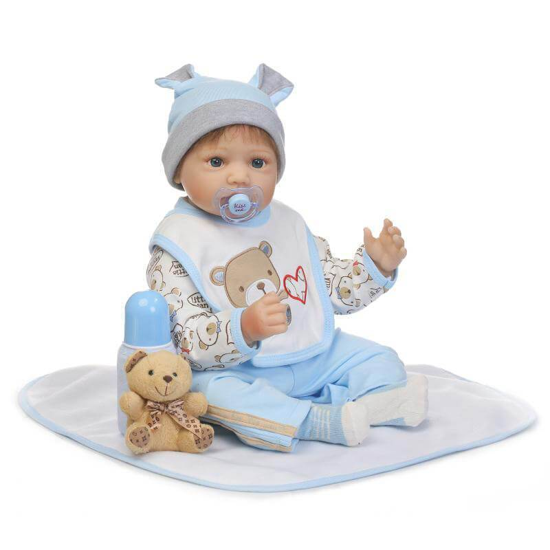 Minidiva Realistic Baby Boy Fowler with Bear Doll - MiniDiva
