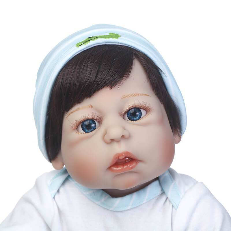 Minidiva Lifelike Silicone Doll Luci with Big Blue Eyes - MiniDiva