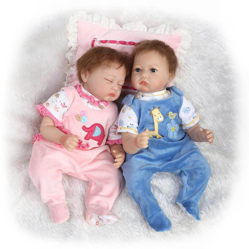 Minidiva Lifelike Silicone Twins Dolls Carolina and Baily - MiniDiva