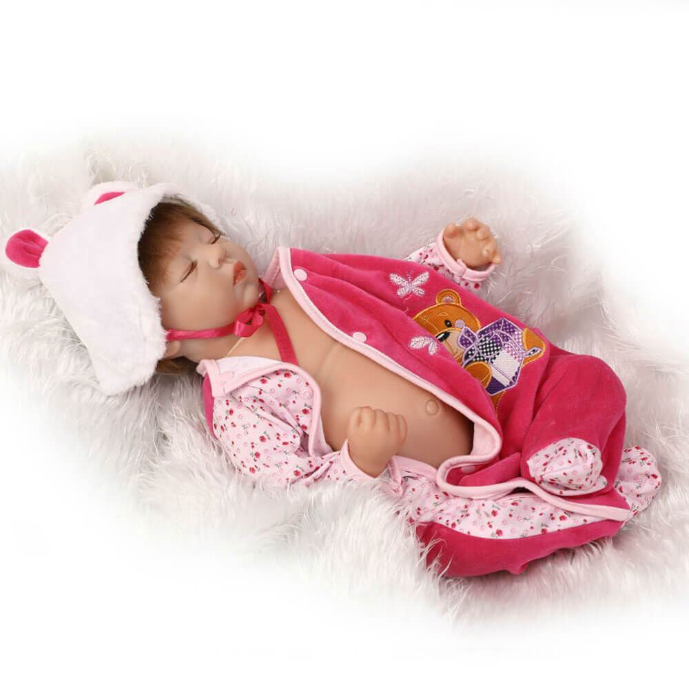 Minidiva Truly Sleeping Baby Doll with Bear Pal - MiniDiva