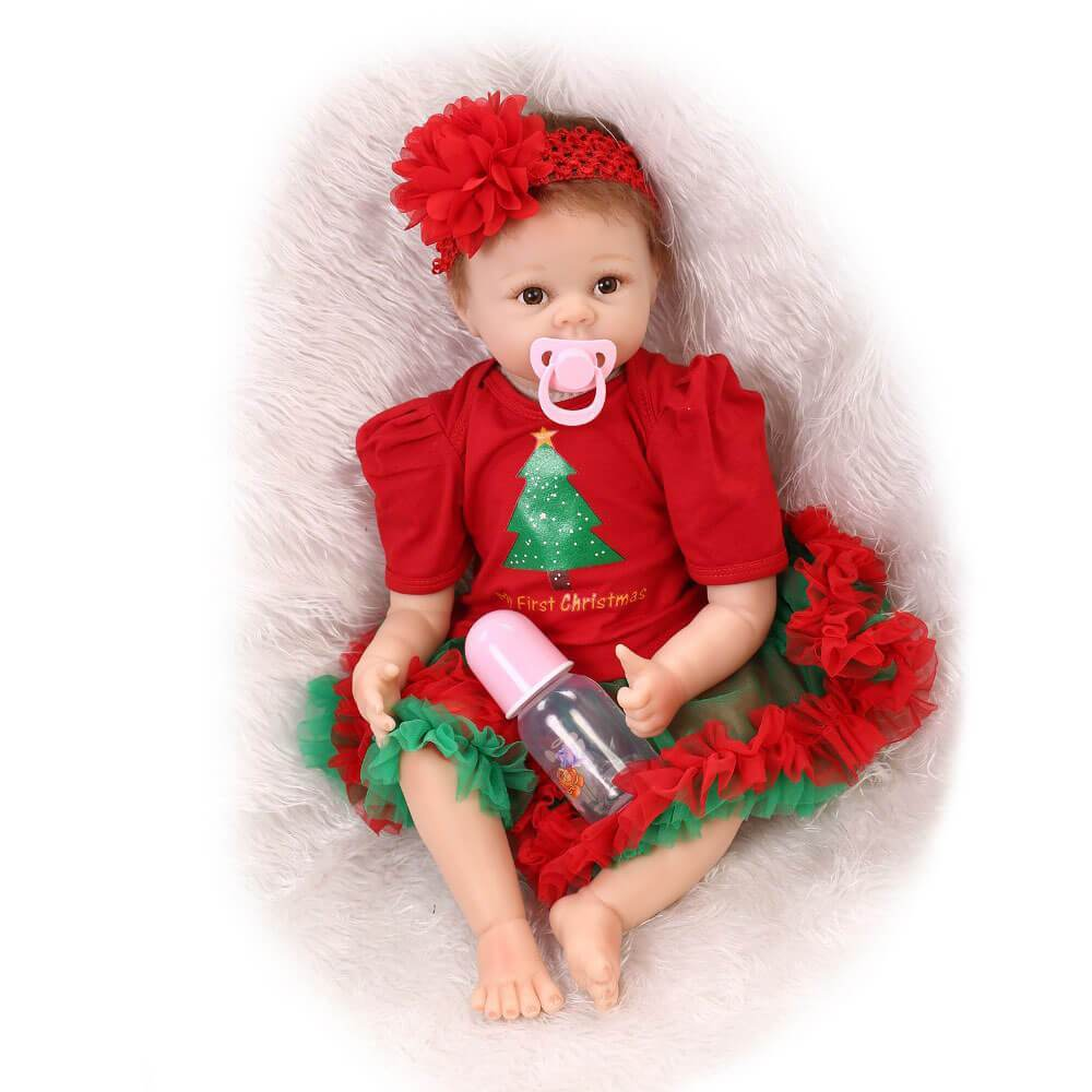 Minidiva Sweet Christmas Reborn Girl Doll Cathy - MiniDiva