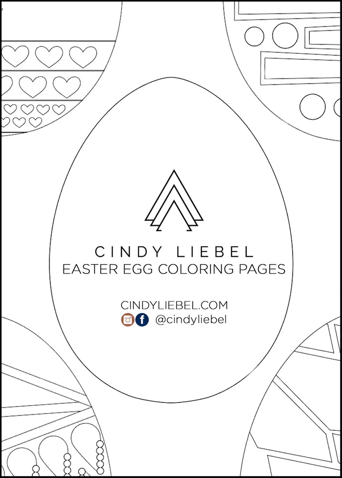 ART | Printable Easter Egg Coloring Pages