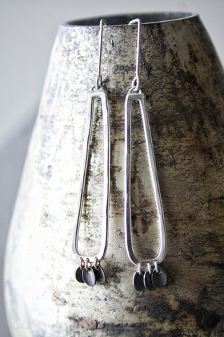 Long Silver Earrings by Cindy Liebel Jewelry
