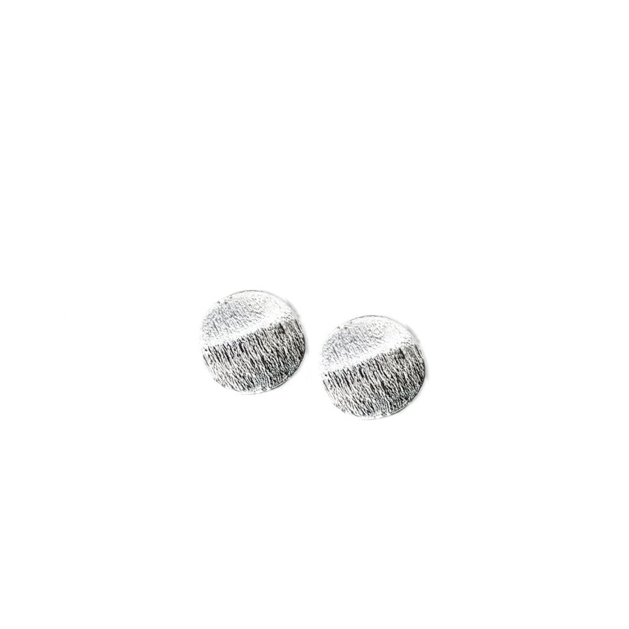Load image into Gallery viewer, Sterling Silver Round Stud Earrings by Cindy Liebel Jewelry