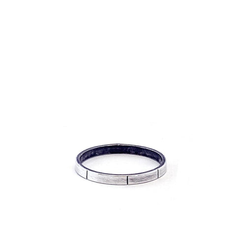 Minimalist Skinny Midi Ring in Sterling Silver