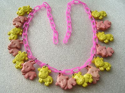 "Vintage ""cow parade"" early plastic necklace - Talma's Work&Shop  - 1"