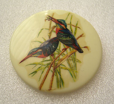 Vintage 1950s early plastic pin / brooch with birds - Talma's Work&Shop  - 1