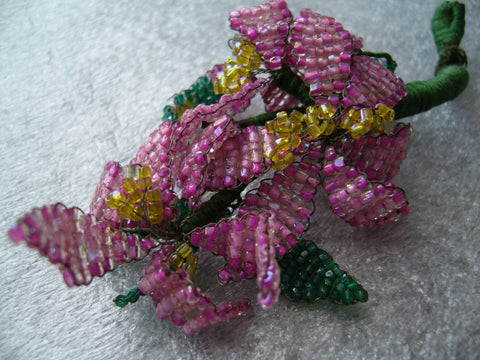 Seed beads weaving flower - Talma's Work&Shop  - 1