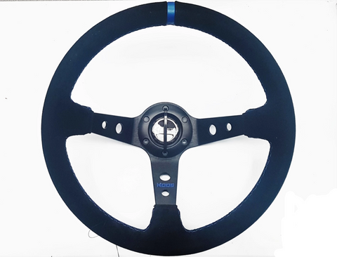 Sued Deep Dish Racing Steering Wheel
