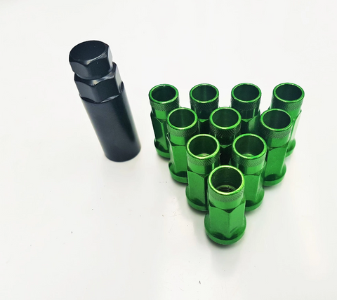 Mazda RX-8 Green Long Wheel Nut Set (Steel)