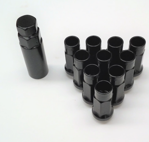 Mazda RX-8 Black Long Wheel Nut Set (Steel)