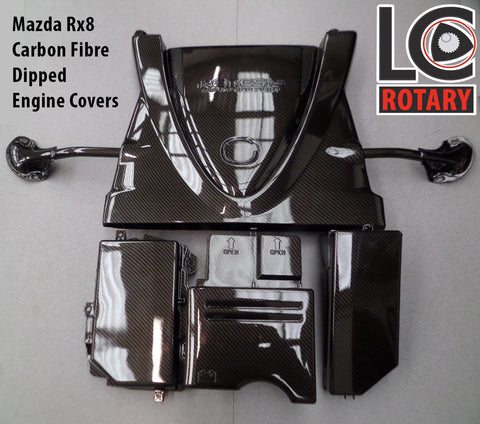 Mazda RX-8 Carbon Fibre Dipped Engine Covers