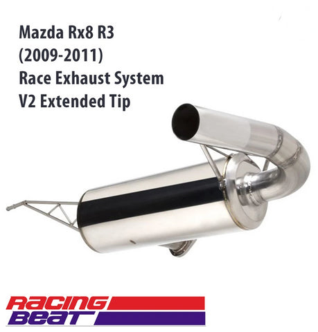 Mazda RX-8 R3 (2009-2011) Race Exhaust V2 - Extended Tip