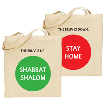 The Eruv is Up / Down Tote
