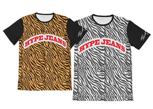 Hype Jeans Company Tiger Print tees Available in all sizes for the summer fashion