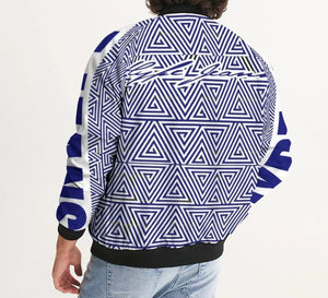 Hype Jeans Mosaic Navy Blue / white Men's Bomber Jacket - Hype Jeans Company - Hype Jeans