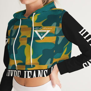 Hype Jeans Company - Forest fall fade Camo Women's Cropped Hoodie
