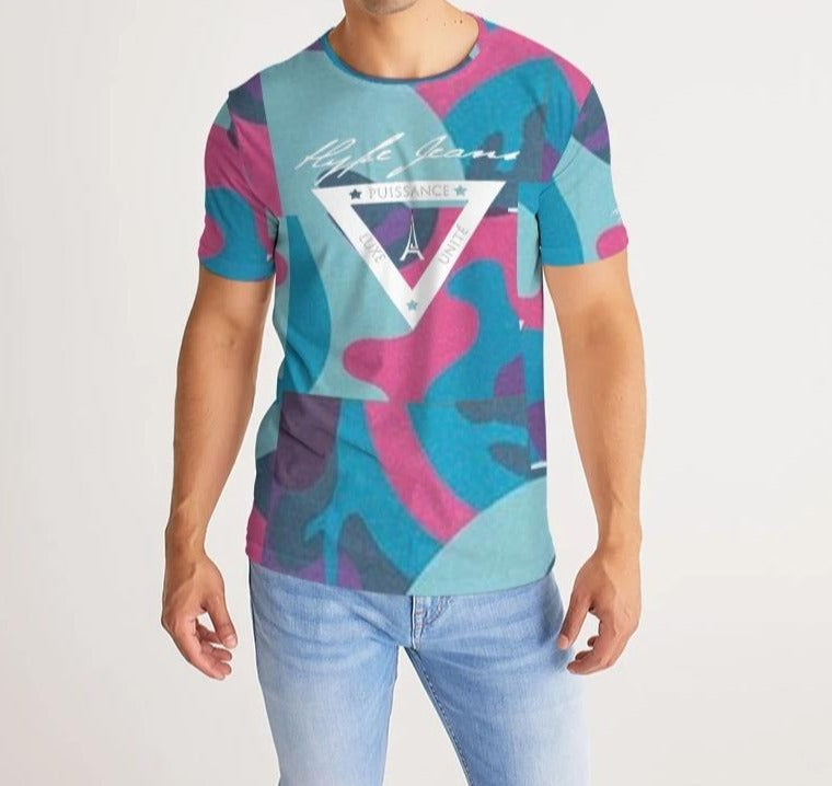 Hype Jeans Fade Camo blue/ pink Men's Tee - Hype Jeans Company - Hype Jeans