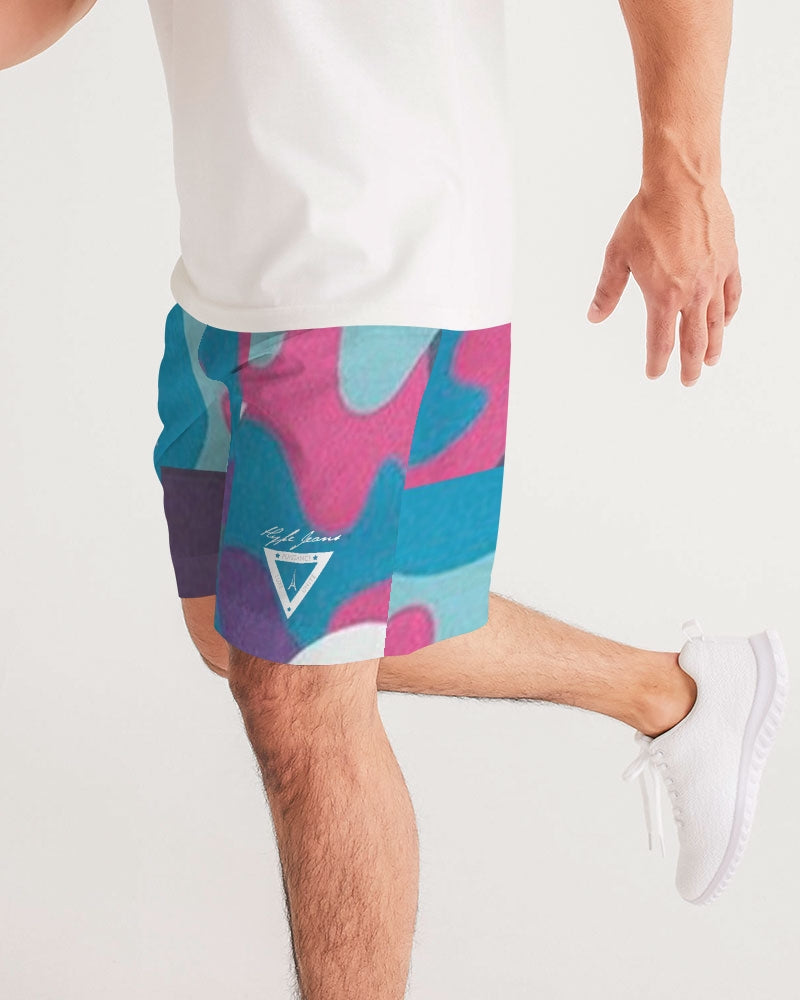 Hype Jeans Fade Camo blue/ pink Men's Jogger Shorts - Hype Jeans Company - Hype Jeans