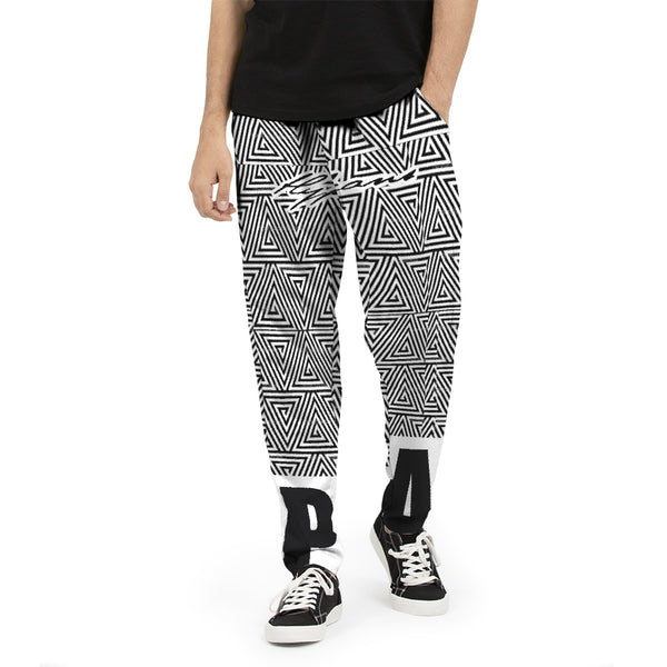 Hype Jeans Black / White Mosaic Men's Joggers