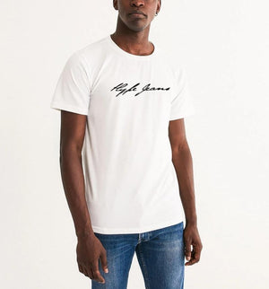 HJ signature Men's Graphic Tee (white) - Hype Jeans Company - Hype Jeans